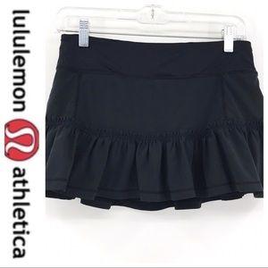 💕SALE💕Lululemon Black Ruffled Pace Setter Skirt